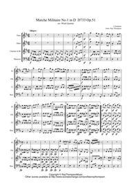 Schubert: Marche Militaire No.1 in D  D733 Op.51 arr.wind quartet