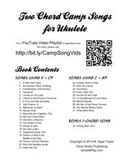 Two Chord Camp Songs for Ukulele: Silly, Crazy, Fun Songs for Group Singing