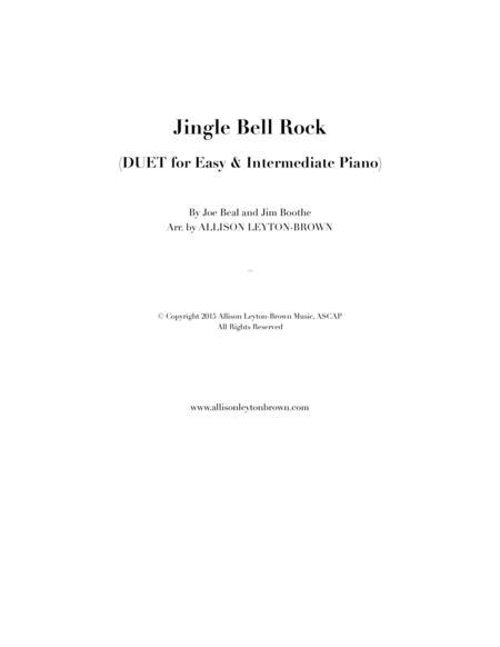 Download Jingle Bell Rock Fun Duet For Easy Intermediate Piano
