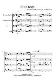 Toccata by Bach Rocks! for Saxophone Quartet