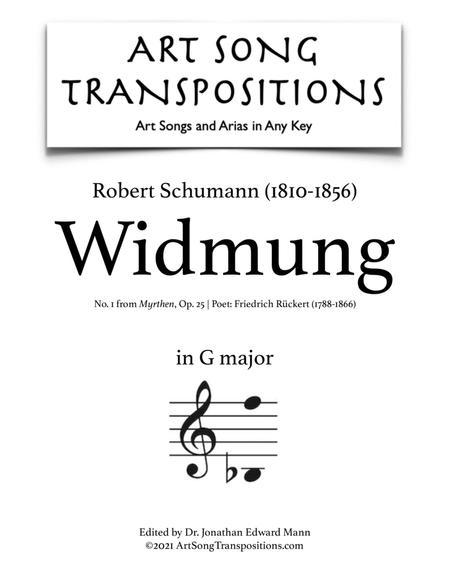Widmung, Op. 25 no. 1 (G major)