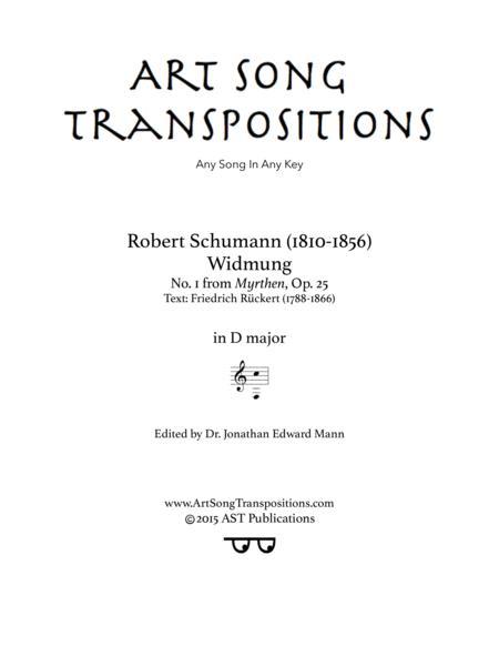Widmung, Op. 25 no. 1 (D major)