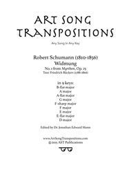 Widmung, Op. 25 no. 1 (in 9 keys: B-flat, A, A-flat, G, F-sharp, F, E, E-flat, D major)