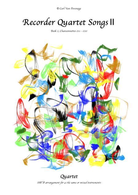 (BH002R*E*C) Recorder Quartet Songs, Book 2 (>70 pages)