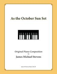 As the October Sun Set