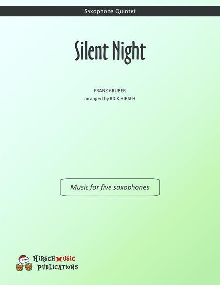 Silent Night — saxophone quintet