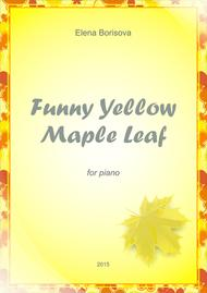 Funny Yellow Maple Leaf