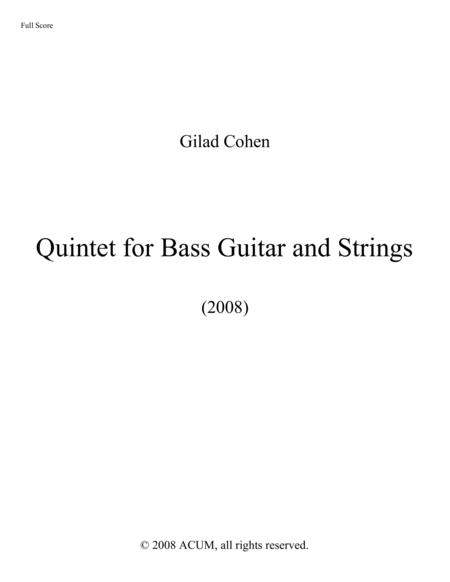Quintet for Bass Guitar and Strings