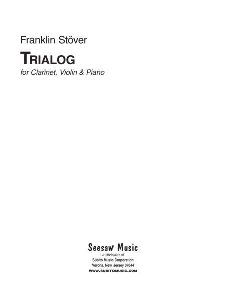 Trialog, for violin, clarinet & piano