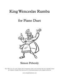 King Wenceslas Rumba, fun Christmas carol variation for piano duet by Simon Peberdy