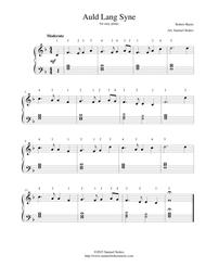 image about Auld Lang Syne Lyrics Printable known as Obtain Auld Lang Syne - For Simple Piano Sheet Audio Through