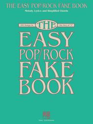 the easy pop rock fake book sheet music by various sheet music plus