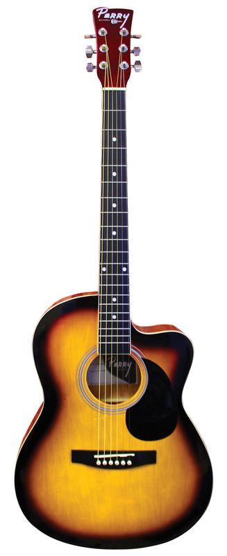 Youth Cutaway Acoustic Vintage Sunburst Guitar