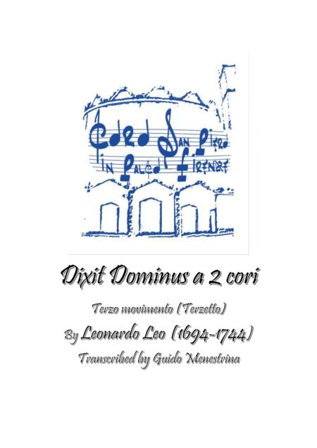 Leonardo Leo - Dixit Dominus a 2 cori, 1741, Terzo movimento (Terzetto)