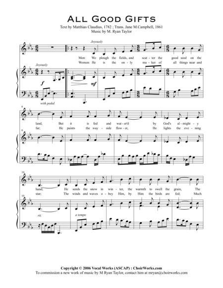 All Good Gifts : An Original Setting for SATB Choir and Piano