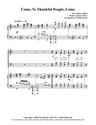 Come, Ye Thankful People Come : SATB and Piano