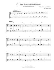O Little Town of Bethlehem - for 3-octave handbell choir
