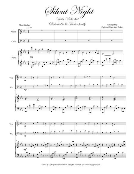 Silent Night Violin/Cello duet in E flat