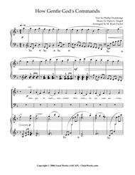 How Gentle God's Commands : SATB and Piano