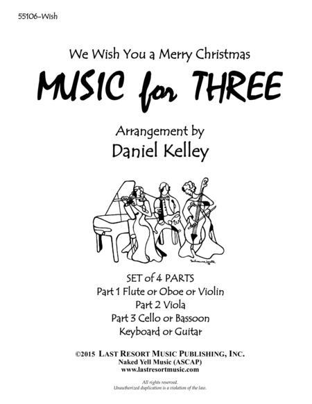 We Wish You a Merry Christmas for Piano Quartet (Violin, Viola, Cello, Piano) Set of 4 Parts