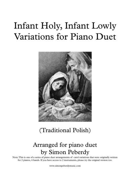 Infant Holy, Infant Lowly Christmas Carol Variations for Piano Duet, Arr. Simon Peberdy