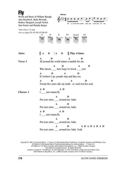 Download Fly Sheet Music By Sugar Ray - Sheet Music Plus