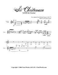 Sir Christemasse, A song of Father Christmas : SATB with Acoustic Guitar
