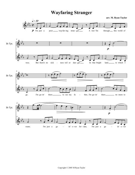 Wayfaring Stranger (Bluesified) : Vocal Solo with Trumpet and Piano