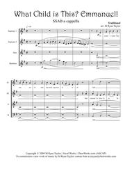 What Child is This? Emmanuel! : SSAB Acapella Choir