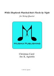 While Shepherds Watched their Flocks by Night - String Quartet