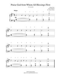 Praise God from Whom All Blessings Flow (Doxology) - for easy piano