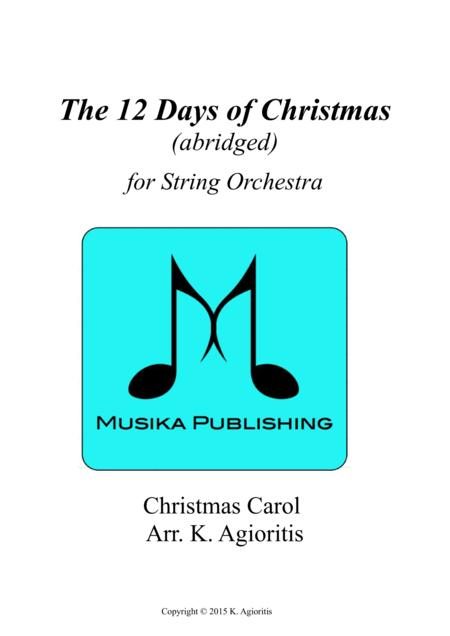 The 12 Days of Christmas - for String Orchestra