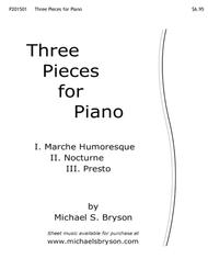 Three Pieces for Piano