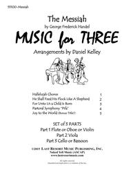 Handel's Messiah for String Trio (Violin, Viola, Cello) Set of 3 Parts