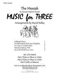 Handel's Messiah for String Trio (2 Violins &  Cello) Set of 3 Parts