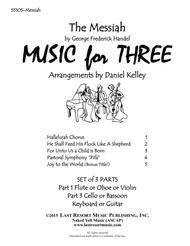 Handel's Messiah for Piano Trio (Violin, Cello, PIano) Set of 3 Parts