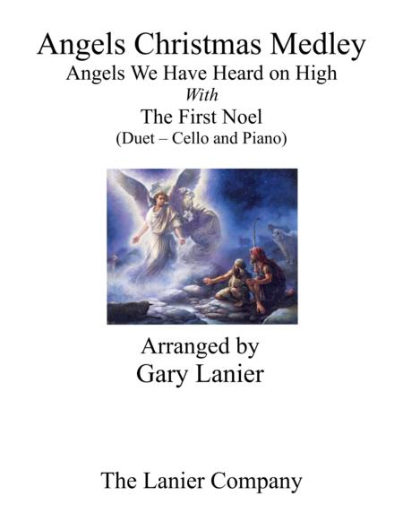 Gary Lanier: ANGELS CHRISTMAS MEDLEY (Duet –  Cello & Piano with Parts)