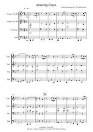 Amazing Grace for Brass Quartet