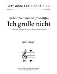 Ich grolle nicht, Op. 48 no. 7 (C major)