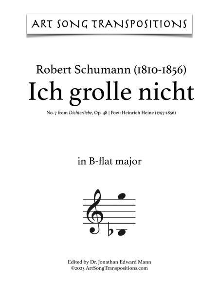 Ich grolle nicht, Op. 48 no. 7 (B-flat major)