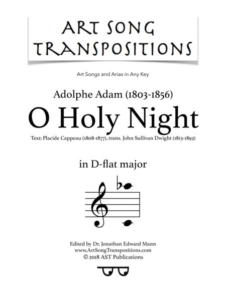 Download O Holy Night (D-flat Major) Sheet Music By Adolphe-Charles ...
