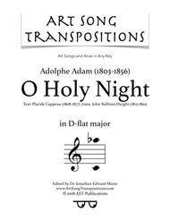 O Holy Night (D-flat major)