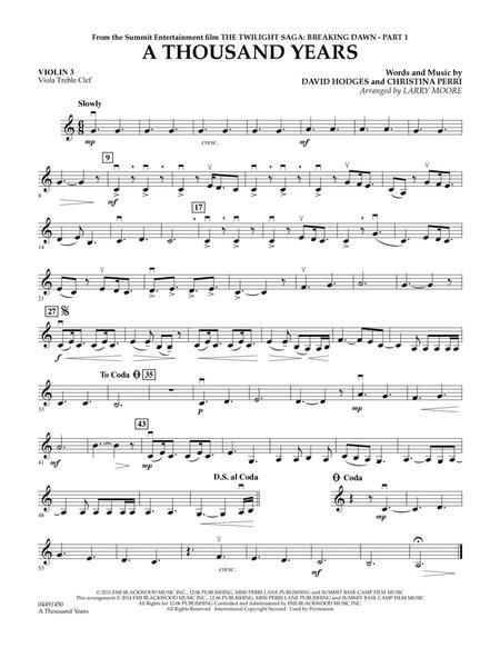 A Thousand Years - Violin 3 (Viola Treble Clef)