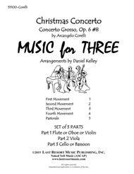 Christmas Concerto (Concerto Grosso Op. 6 #8) for String Trio (Violin, Viola, Cello) Set of 3 Parts