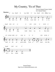 America (My Country, 'Tis of Thee) - lead sheets in all keys