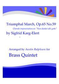 Triumphal March based on Nun Danket Alle Gotte - brass quintet