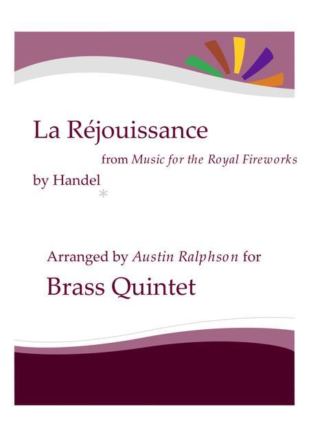 La Rejouissance (Fireworks) - brass quintet