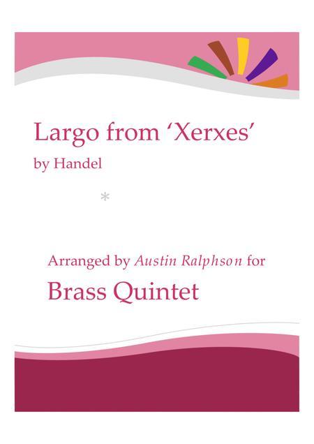 Largo from Xerxes - brass quintet