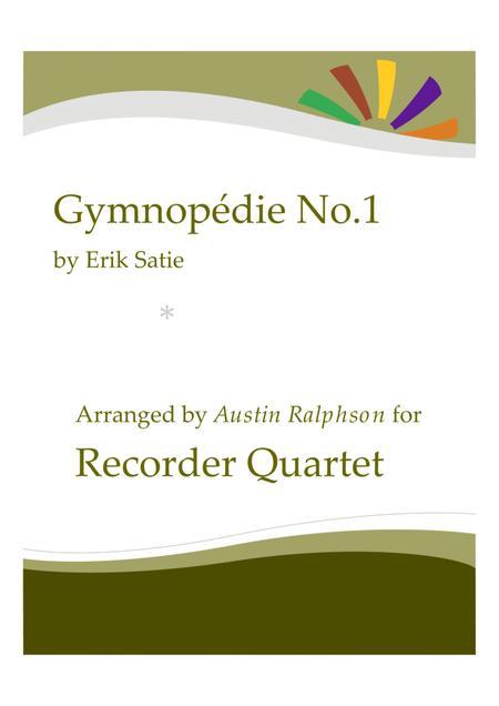 Gymnopedie No.1 - recorder quartet