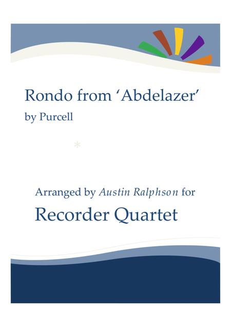 Rondo from The Abdelazer Suite - recorder quartet